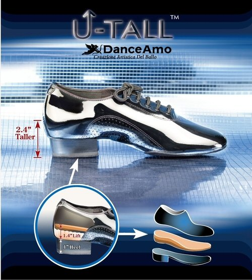 DanceAmo PRO - U-Tall Mens Ballroom Dance Shoes