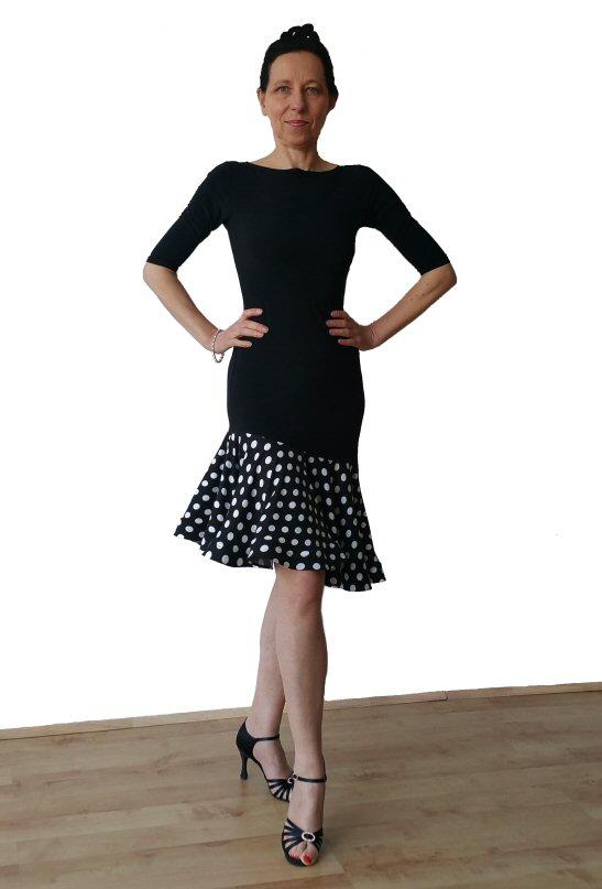 e3c310f71 Black Polka dots Latin practice dress ...