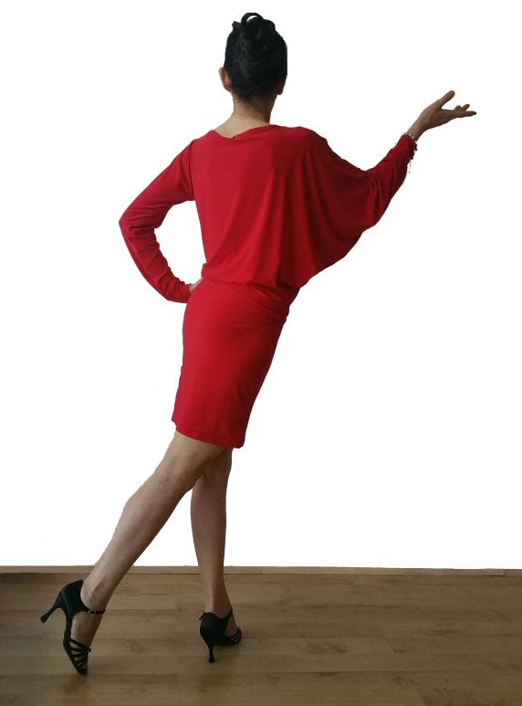 d75f021f0 Bat sleeve Latin dress, Red, Free size (will fit UK size 8 - 14) List price  £39.95 excl.VAT Now: £29.95 excl.